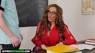 Xnxx big tits Hot teacher Richelle Ryan fucks big dick student