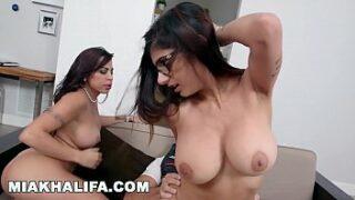 MIA KHALIFA and her Stepmom share a Big Cock XNXX Porn Videos