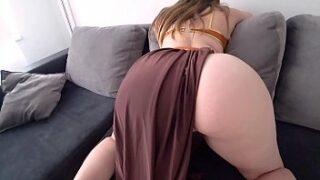 Big booty sexy girl gets super xnxx fucked in sofa
