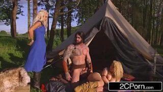 Game of Thrones XXX Parody Princess & Her Handmaiden Fucked