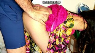 Hot bhabhi fucking by her father-in-law in Doggy style